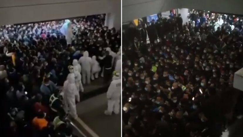 روز جمعه فرودگاهی در چین بعد از مثبت شدن نتیجه تست کرونا یکی از کارمندان دچار هرج و مرج شدید شد زیرا مقامات تصمیم گرفتند تا از تمامی حاضران در فرودگاه تست کرونا بگیرند.