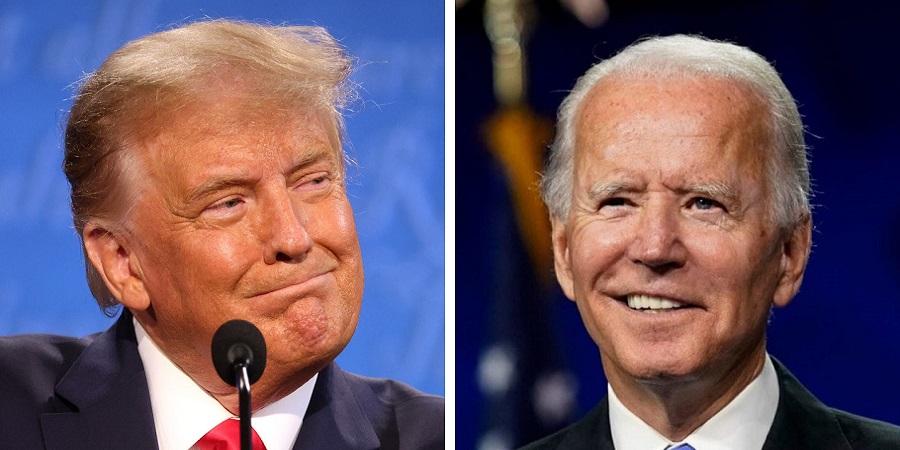 آرزوی سلامتی ترامپ برای جو بایدن بعد از شکستگی پایش