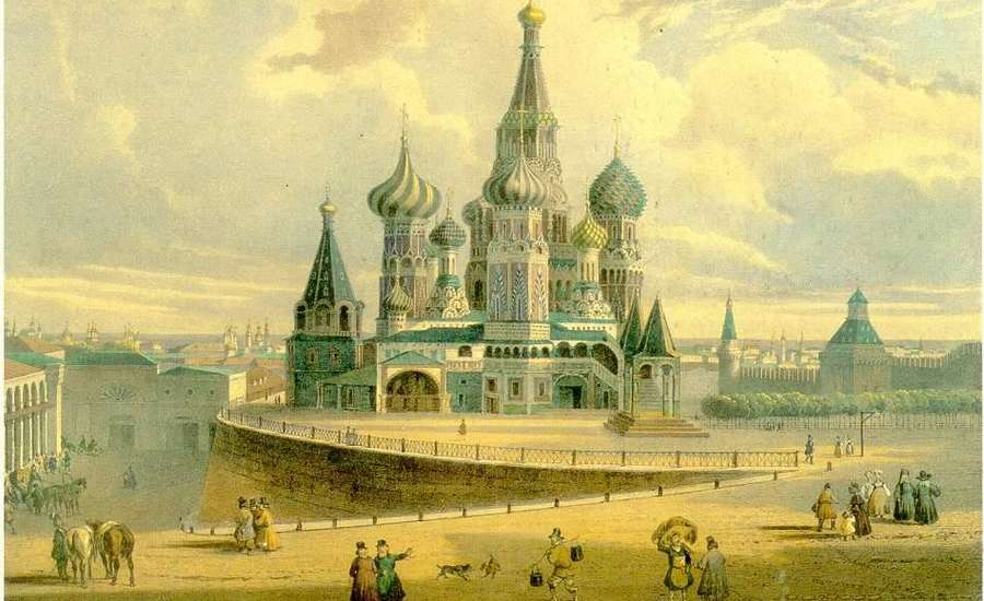 بعد از تکمیل شدن کلیسای جامع سنت باسیل در اواسط قرن شانزدهم میلادی، افسانه ای در مورد این کلیسای ارتدوکس بسیار زیبا و رنگارنگ که در قلب شهر مسکو قرار دارد شکل گرفت.