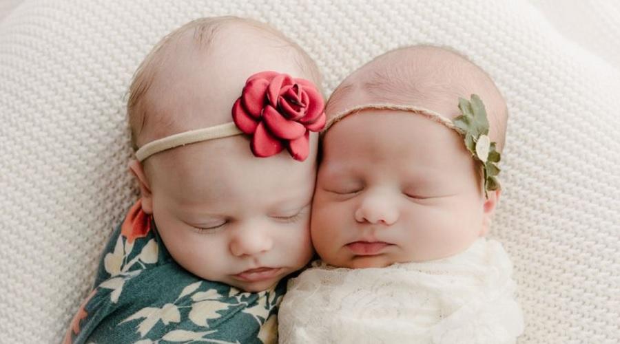 تولد دوخواهر دوقلو از دو مادر جداگانه با ۸ هفته و ۱،۲۰۰ کیلومتر فاصله