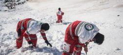 عملیات نجات کوهنوردان از زیر بهمن در ارتفاعات تهران + ویدئو