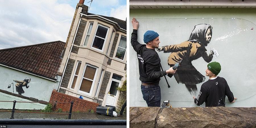 دیوارنگاره جدید بنکسی ارزش خانه زن انگلیسی را میلیونی کرد