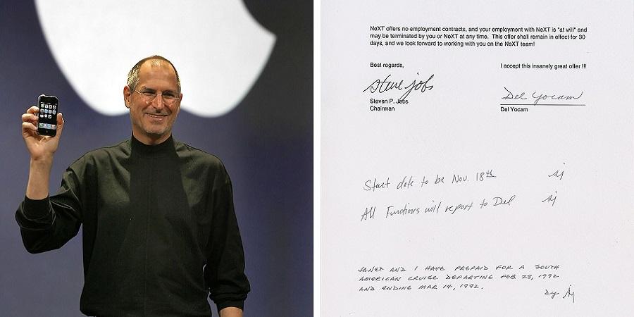 حراج نامه ای با امضای استیو جابز به قیمت ۲۵ هزار دلار