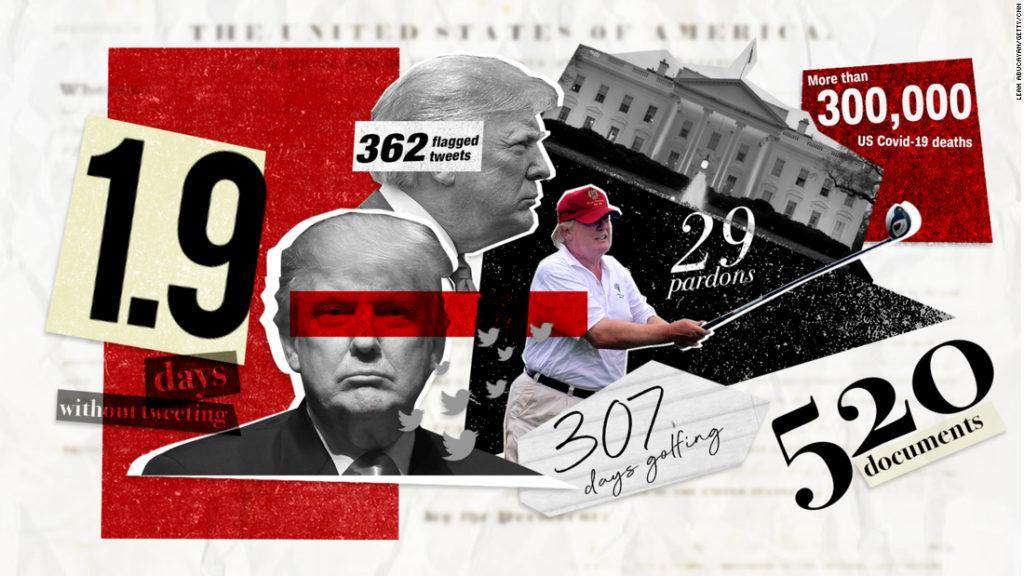 دوران ریاست جمهوری ۴ ساله دونالد ترامپ در قالب اعداد و ارقام