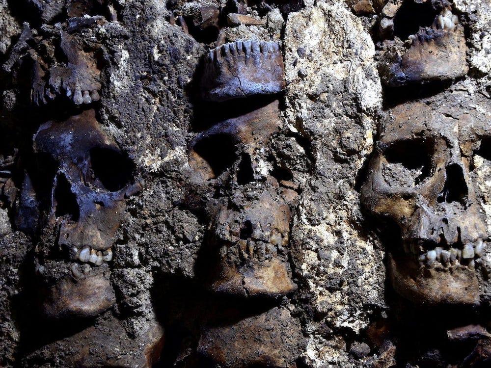 کشف برجی از ۸۰۰ جمجمه در مکزیک و فاش شدن راز قربانی کردن انسان در تمدن آزتک
