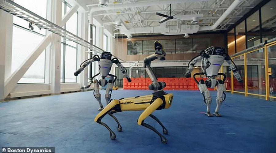 رقص حرفه ای ربات های شرکت ربات سازی آمریکایی + ویدئو