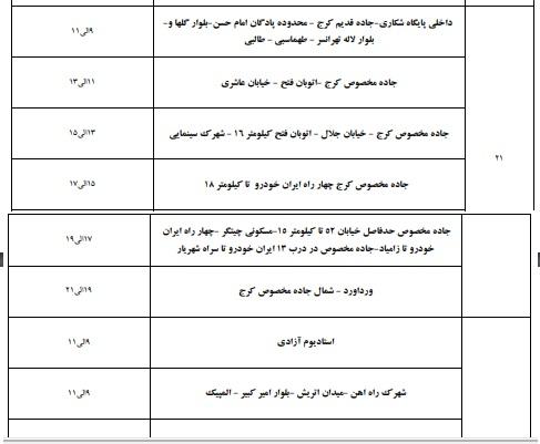 خاموشی های تهران