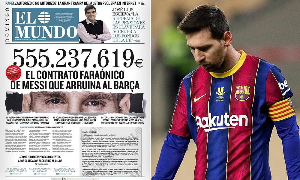 جزییات عجیب قرارداد فرعونی لیونل مسی با بارسلونا ؛ ۶۷۴ میلیون یورو برای چهار سال