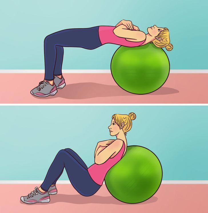 در ادامه این مطلب قصد داریم شما را با 5 تمرین فوق العاده ورزشی آشنا کنیم که تنها با استفاده از توپ تمرین قادر به انجام آن ها خواهید بود.