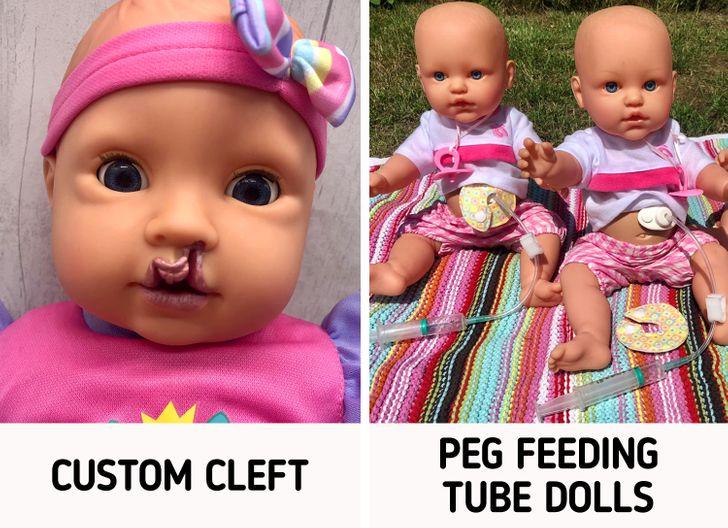 مادری که به خاطر فرزندش عروسک های دارای معلولیت می سازد