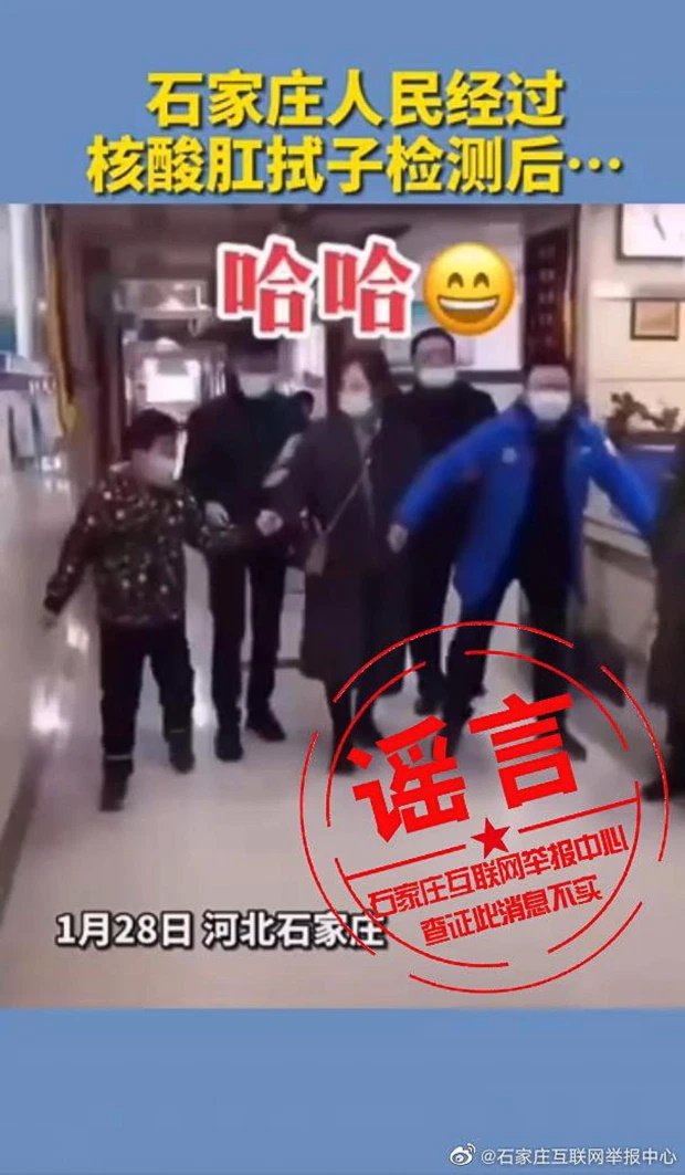 انتشار ویدیوهایی طنز در شبکه های اجتماعی که شهروندان چینی را در حال راه رفتن پنگوئنی پس از تست مقعدی کرونا نشان می دهد، دولت چین را وادار به اطلاع رسانی در این مورد کرد