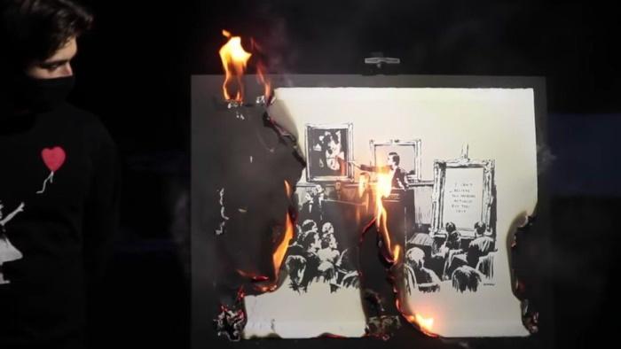 ماجرای آتش زدن تابلوی بنکسی در مزایده آنلاین چه بود؟