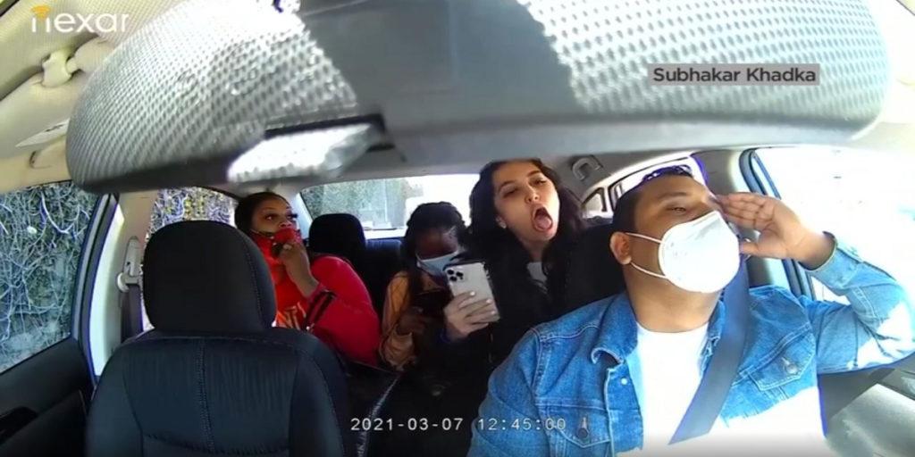 حمله زن ایرانی به راننده تاکسی اینترنتی اوبر به خاطر درخواست برای زدن ماسک + ویدئو