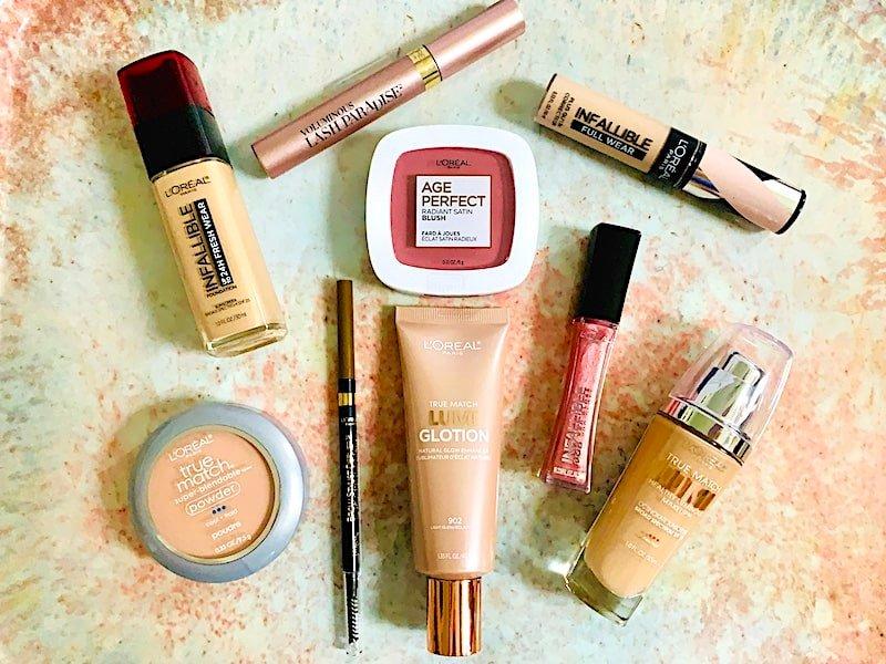 4 loreal cosmetics drugstore makeup flatlay f - با ۱۰ مورد از برترین برندهای آرایشی دنیا آشنا شوید