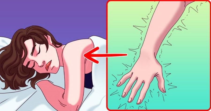 چرا وقتی می خوابیم دست مان خواب می رود؟