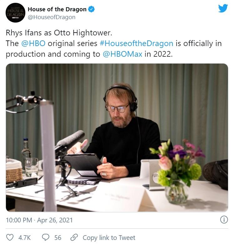 HoTD production 1 1024x683 1 - اعلام رسمی آغاز تولید سریال «خاندان اژدها»؛ اسپین آف «بازی تاج و تخت» کلید خورد
