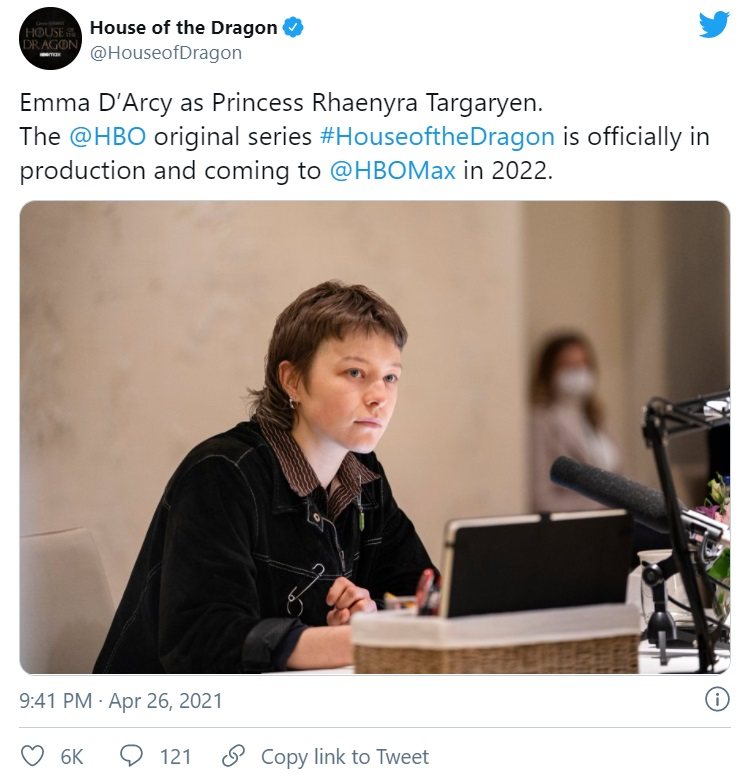 HoTD production 1 1024x683 6 - اعلام رسمی آغاز تولید سریال «خاندان اژدها»؛ اسپین آف «بازی تاج و تخت» کلید خورد