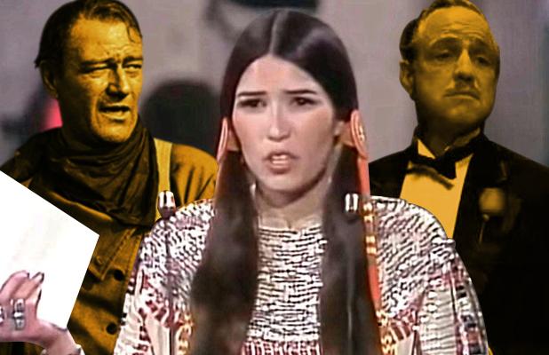 ساشین لیتل فزر می گوید که بعد از شرکت در مراسم اسکار سال 1973 به نمایندگی از مارلون براندو، توسط هالیوود در فهرست سیاه قرار گرفته است
