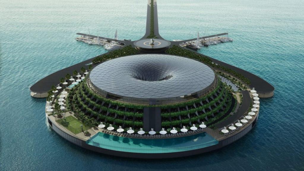 ساخت هتل شناور در قطر که خودش تولید برق میکند