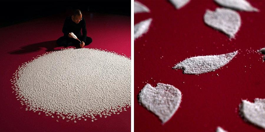 شکوفه هایی از جنس نمک؛ اثر هنری تماشایی هنرمند ژاپنی
