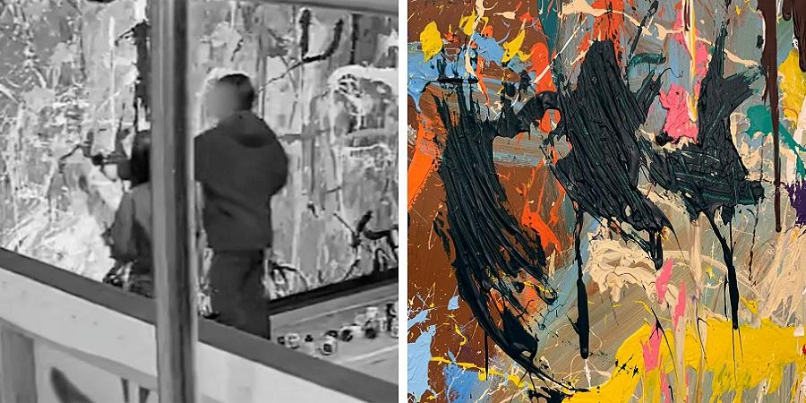 زوج کره ای اثر هنری نیم میلیون دلاری را تخریب کردند