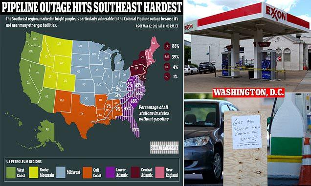 اتمام سوخت در ۸۸ درصد پمپ بنزینهای واشنگتن دی سی و افزایش بیسابقه قیمت بنزین