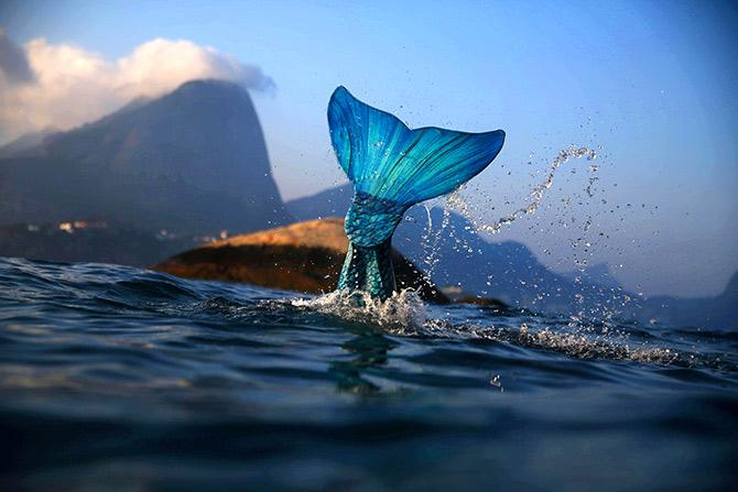 رواج نوع جدیدی از تفریح های آبی در چین با نام «شیرجه آزاد به سبک پری دریایی»