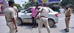 ضرب و شتم سخت قانون شکنان کرونایی توسط پلیس هندوستان