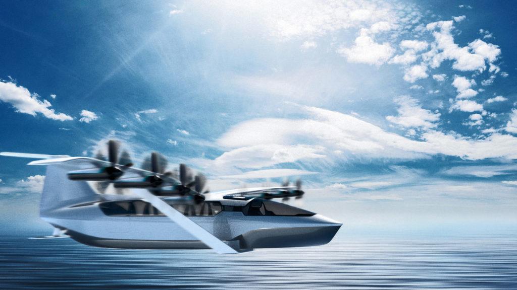 قایق-هواپیمای تمام الکتریکی seaglider برای مسیرهای ساحلی و سبک پرواز منحصربفرد