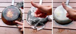 ترفند جالب برای تمیز کردن سوختگی زیر قابلمه و ماهیتابه + ویدیو