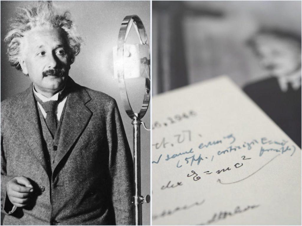 حراج نامه دستنویس آلبرت انیشتین حاوی فرمول E=mc2 به قیمت ۱.۲ میلیون دلار