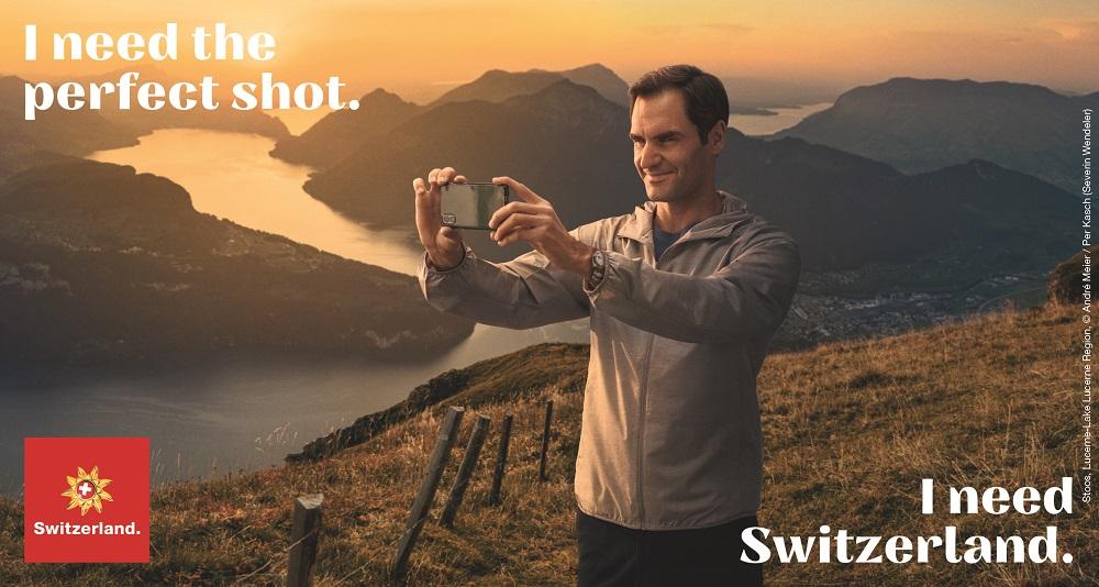 راجر فدرر تنیس باز سوییسی در همکاری با رابرت دنیرو بازیگر هالیوودی در یک کمپین تبلیغاتی برای بازگشایی صنعت توریسم در سوییس شرکت کردند