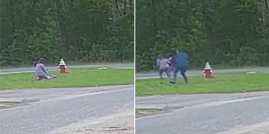 لحظه دلهره آور تلاش آزارگر جنسی برای دزدیدن دختربچه + ویدئو