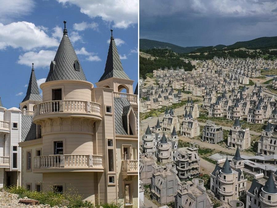 شهر متروکه ترکیه با خانه هایی به شکل قلعه های دیزنی لند