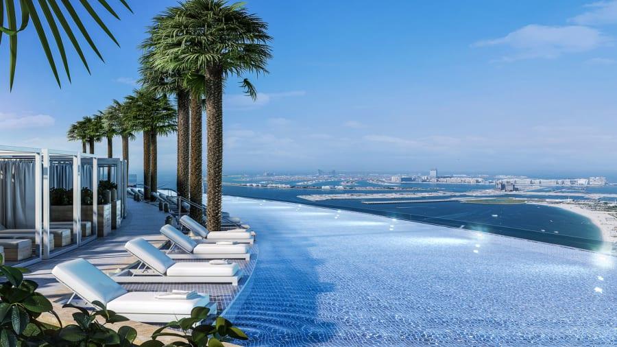 مرتفع ترین استخر بدون مرز دنیا در دبی افتتاح شد