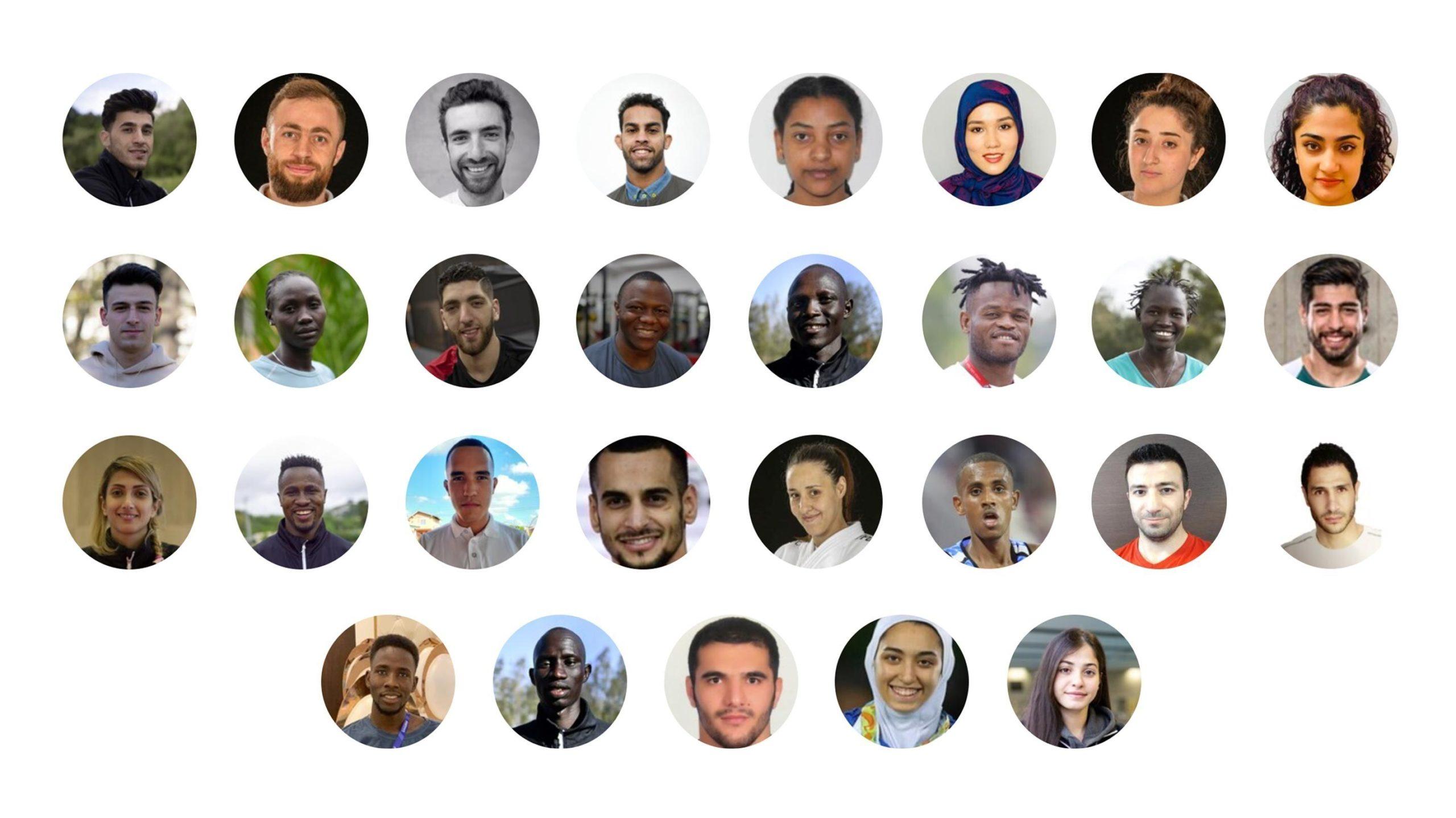 کیمیا علیزاده و دینا پور یونس در رشته تکواندو، جواد محجوب در جودو و هامون درفشی پور در کاراته، در قالب تیم پناهجویان در المپیک خواهند بود.