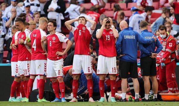 در جریان مسابقه بین تیم های فوتبال دانمارک و فنلاند در اولین مسابقه دو تیم از مسابقات یورو 2020، در صحنه ای بسیار تکان دهنده از بازی، کریستین اریکسن بازیکن مشهور تیم ملی دانمارک و تیم باشگاهی اینتر، به ناگاه تعادل خود را از دست داده و زمین خورد.