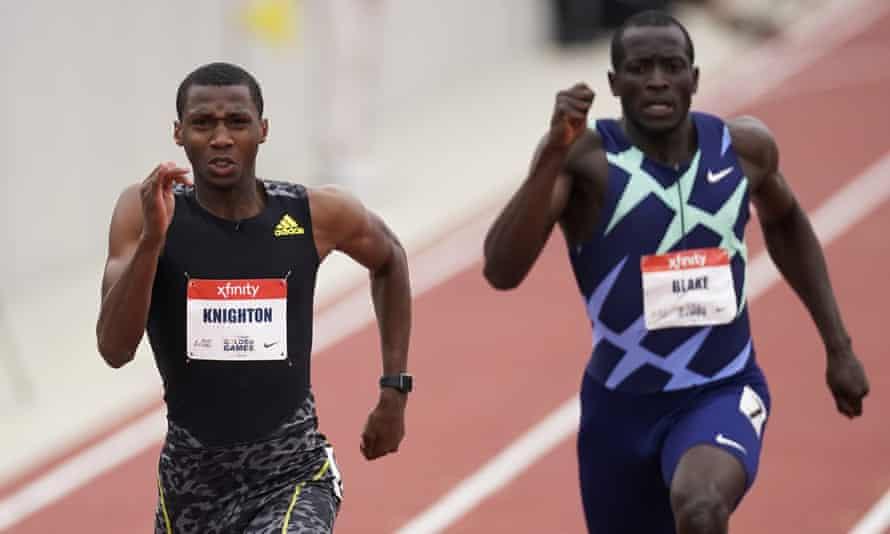 اریون نایتون (Erriyon Knighton) دونده 17 ساله دوشنبه شب رکورد دو 200 متر یوسین بولت در رده سنی زیر 18 سال را شکست.
