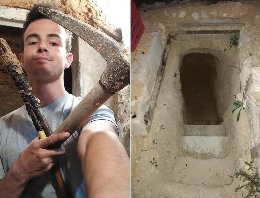 پسر نوجوان برای تخلیه عصبانیتش یک غار زیرزمینی در خانه شان ساخت