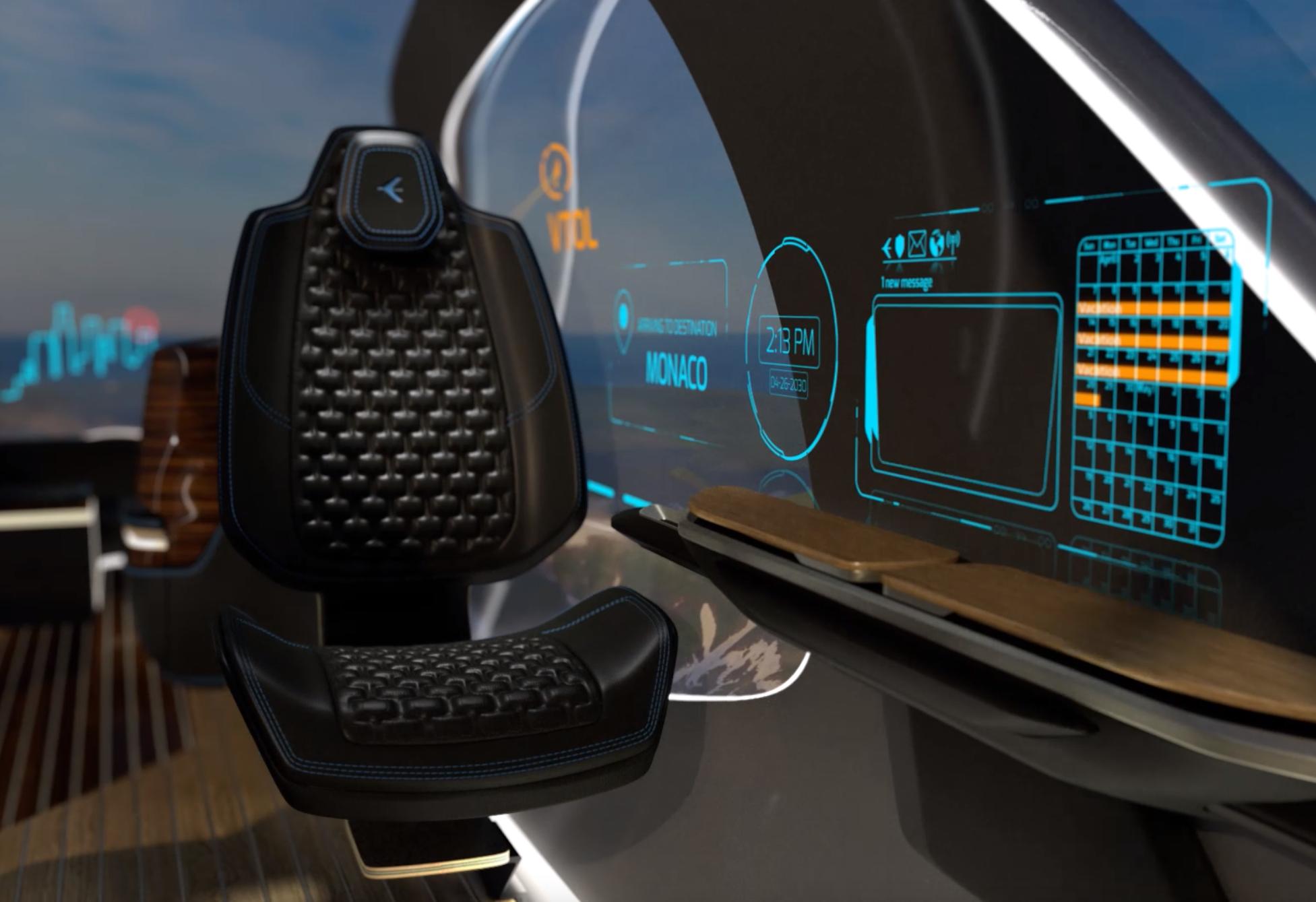 خودرو برقی پرنده Pulse Concept با پوسته شیشه تعاملی میدان دید 360 درجه ای در اختیار سرنشین خود قرار می دهد