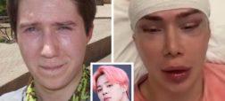 مرد انگلیسی که می خواهد شبیه خواننده گروه BTS باشد و خود را کره ای می داند
