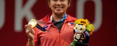 جایزه بانوی وزنه بردار فیلیپینی