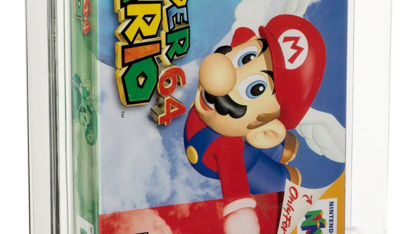 یک کپی از بازی Super Mario 64 به قیمت بیش از 1.5 میلیون دلار فروخته شده و بدین ترتیب رکورد گرانقیمت ترین بازی ویدیویی در حراجی ها شکسته شد.