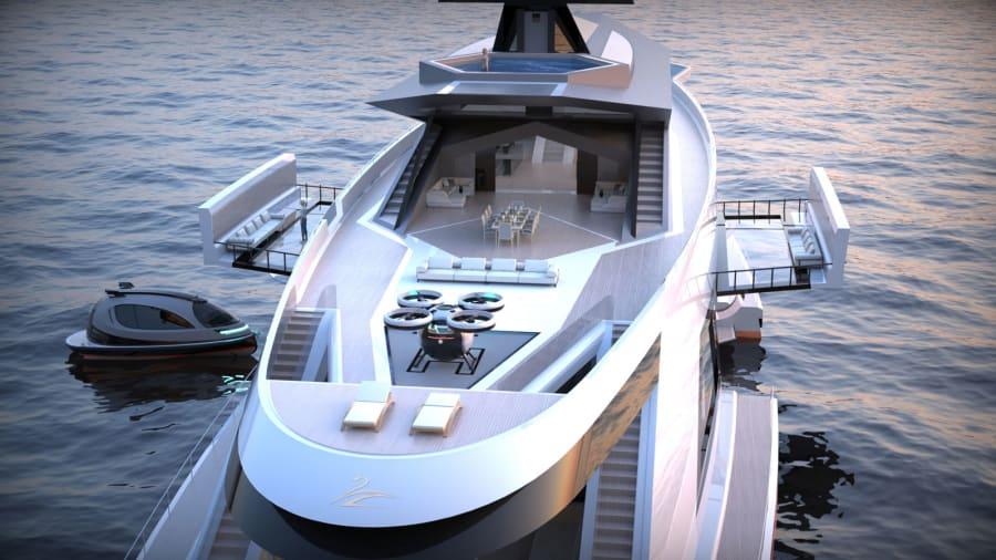 استودیو طراحی Lazzarini در شهر رم، ایتالیا توانسته با آخرین پروژه خود که Saturnia نام دارد یک قایق تفریحی متفاوت خلق کند