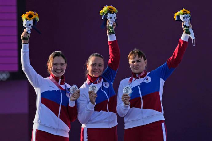 ورزشکاران روسیه اجازه ندارند از نام، پرچم و سرود ملی تیم کشورشان استفاده کرده و زیر نام سر واژه ROC مسابقه می دهند.