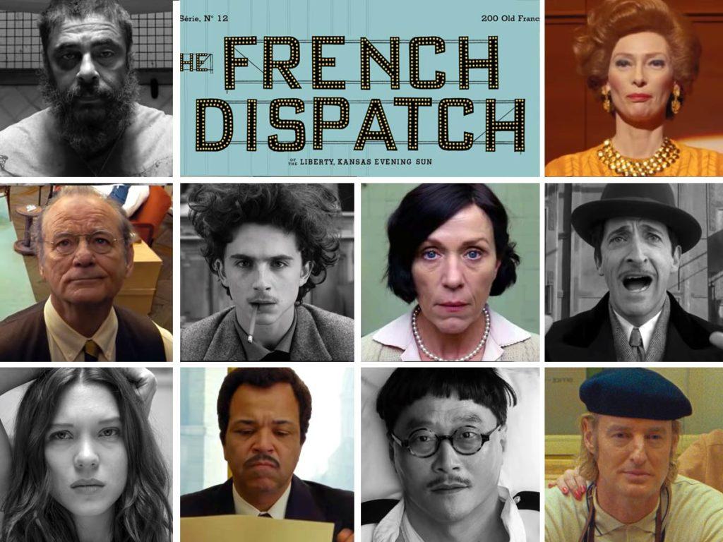 داستان فیلم The French Dispatch در شهر خیالی انوی-سر-بلاس در نزدیکی پاریس رخ می دهد و دیدگاه خارجی هایی که در فرانسه شاغل هستند را به تصویر می کشد