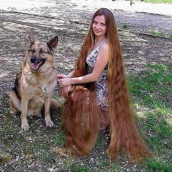 دختری که عنوان راپونزل در دنیای واقعی را دارد در طول عمرش موهایش را کوتاه نکرده و اکنون طول موهای او به 64 اینچ یعنی 160 سانتیمتر رسیده