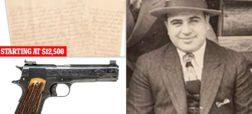 حراج تپانچه محبوب، ساعت جیبی نفیس و نامه آل کاپون به پسرش از زندان آلکاتراز