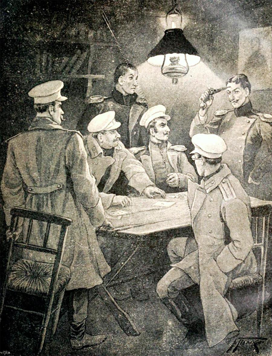 بر اساس برخی تئوری ها، رولت روسی به عنوان یک بازی نسبتاً ایمن در میان ارتش تزاری روسیه برای سرگرم کردن تماشاگران شکل گرفته است.