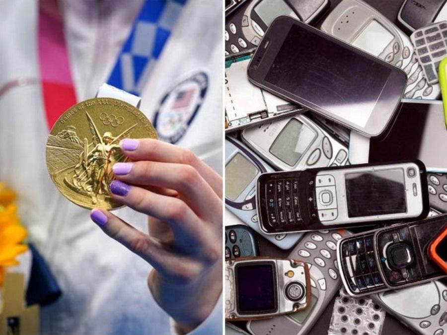 استفاده از گوشی های بازیافتی در ساخت مدال های المپیک توکیو